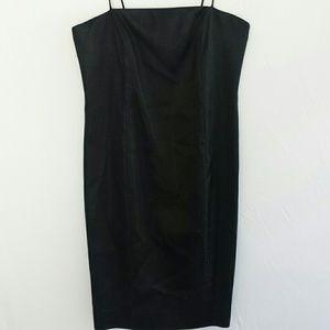 Citrine Evenning Black Dress Spaghetti Straps S 6